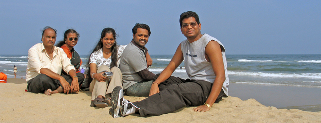 dad, mom, deepa, nebu, karthik